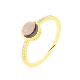 Damenring Gold 375 Rauchquarz Zirkonia  - Ringe mit Stein Damen | Oro Vivo