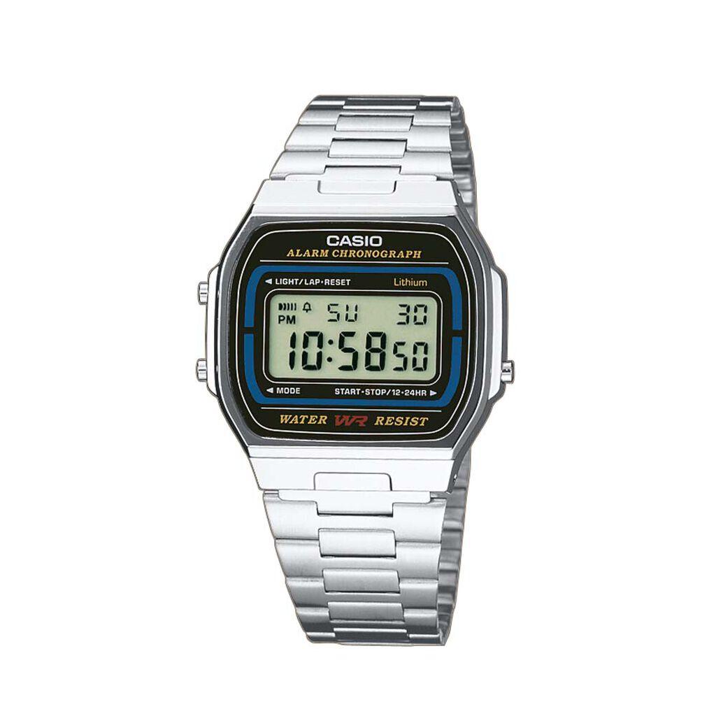 Casio Collection Herrenuhr A164wa-1ves Digital - Chronographen Herren   Oro Vivo