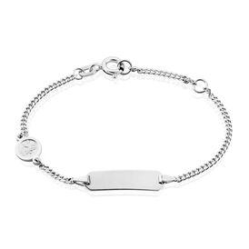 Kinder Id Armband Panzerkette Silber 925 Engel - ID-Armbänder Kinder   Oro Vivo