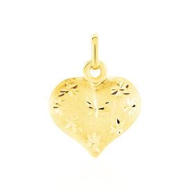 Anhänger Gold 375 Herz  - Herzanhänger Damen   Oro Vivo