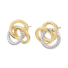 Damen Ohrstecker Vergoldet Bicolor - Kategorie Damen | Oro Vivo