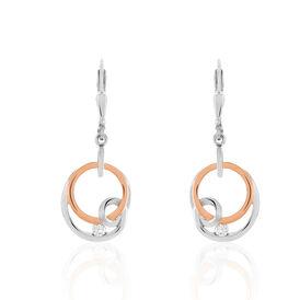 Damen Ohrhänger Lang Silber 925 Vergoldet Bicolor  - Kategorie Damen | Oro Vivo