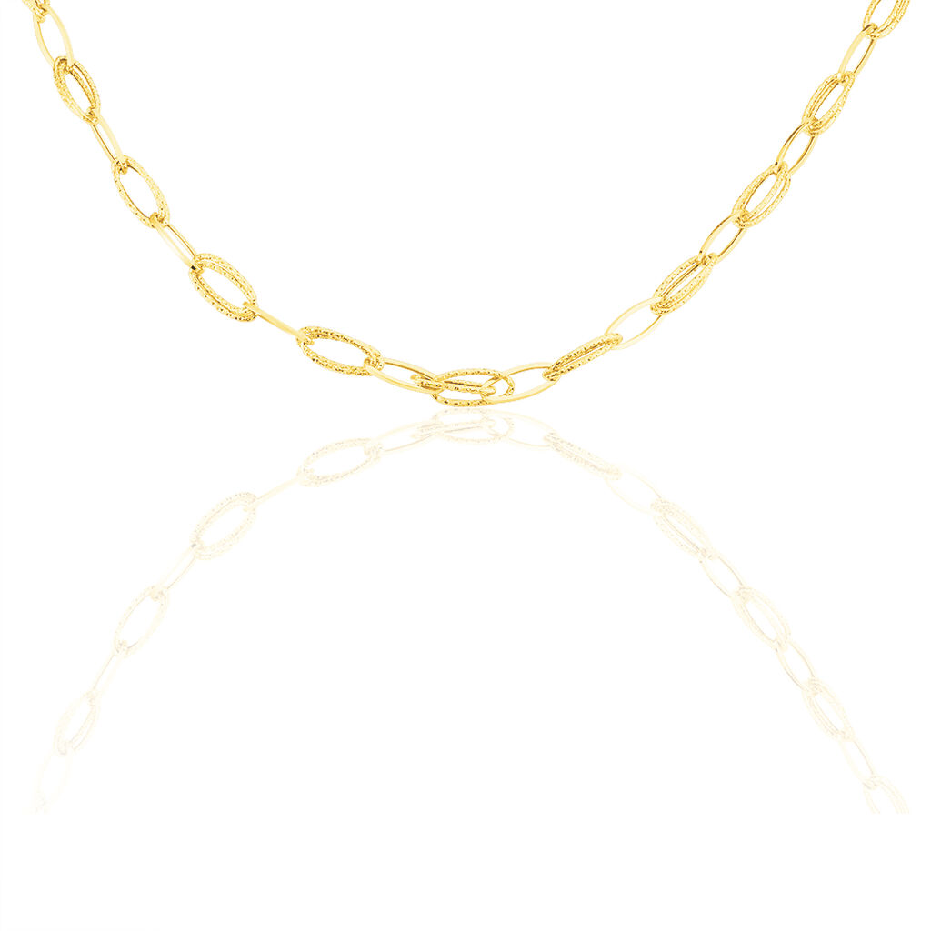 Damen Collier Gold 375 80cm  - Ketten ohne Anhänger Damen | Oro Vivo
