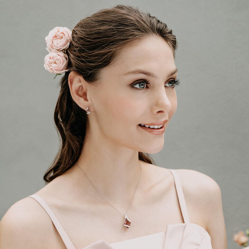 Damen Ohrstecker Silber 925 Rosé Vergoldet - Ohrstecker Damen   Oro Vivo