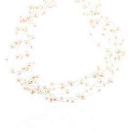 Damen Collier Silber 925 Multicolour Zuchtperlen - Ketten mit Stein Damen   Oro Vivo