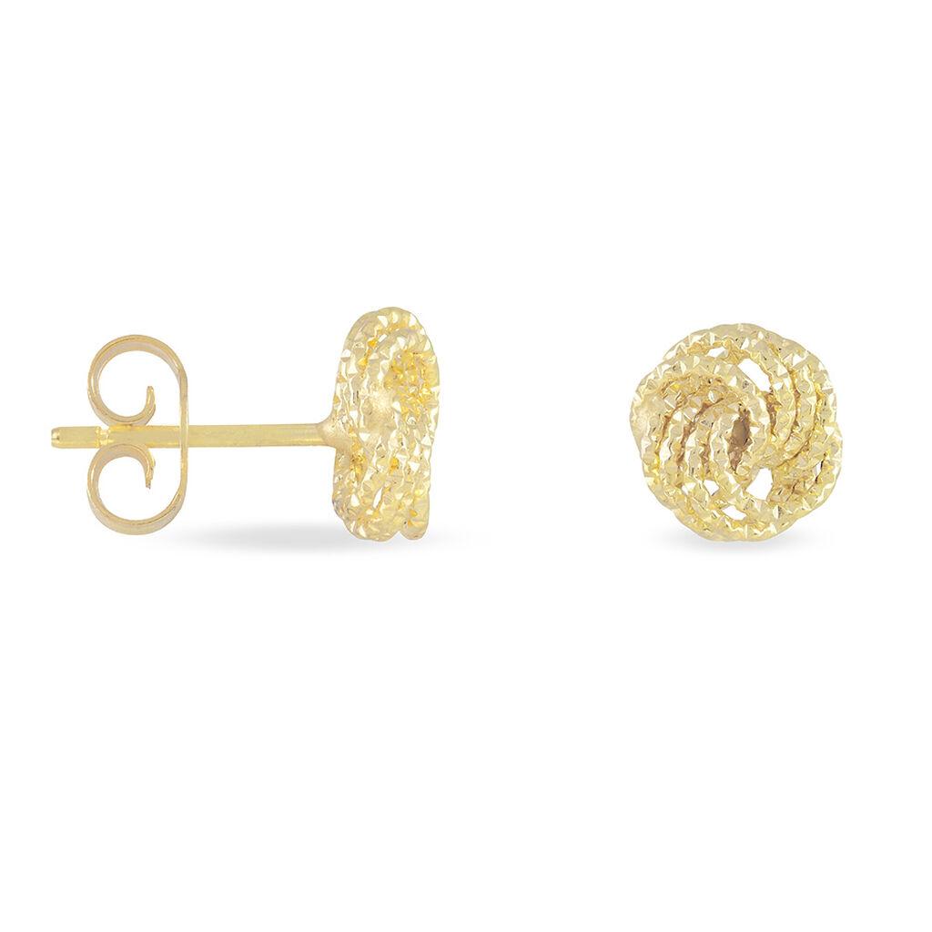 Damen Ohrstecker Gold 375 Knoten - Ohrstecker Damen   Oro Vivo