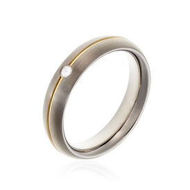 Boccia Damenring Titan Bicolor Diamant 0,03ct - Ringe mit Edelsteinen Damen | Oro Vivo