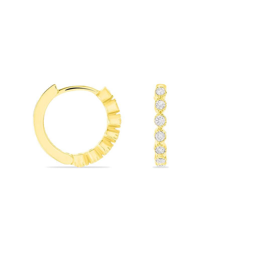 Damen Creolen Gold 333 Zirkonia - Creolen Damen | Oro Vivo