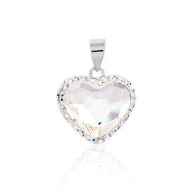 Anhänger Silber 925 Kritall Herz - Herzanhänger Damen | Oro Vivo