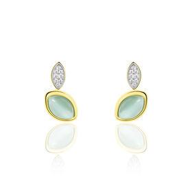 Damenohrstecker Silber 925 Vergoldet - Ohrringe Damen   Oro Vivo