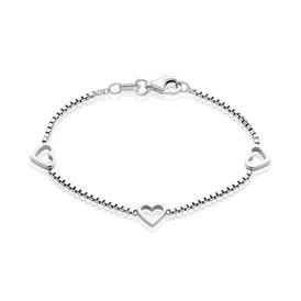 Damenarmband Veneziakette Silber 925 Herz - Armbänder Damen   Oro Vivo