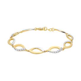 Damenarmband Vergoldet Bicolor Zirkonia - Armbänder    Oro Vivo