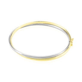 Damen Armreif Gold 375 Bicolor - Armreifen Damen   Oro Vivo