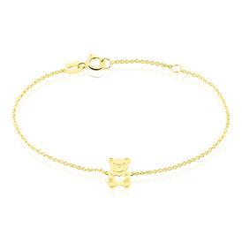 Kinderarmband Gold 375 Bär - Armbänder Kinder | Oro Vivo