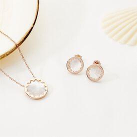 Damen Halskette Silber 925 Rosé Vergoldet Perlmutt - Ketten mit Anhänger Damen | Oro Vivo