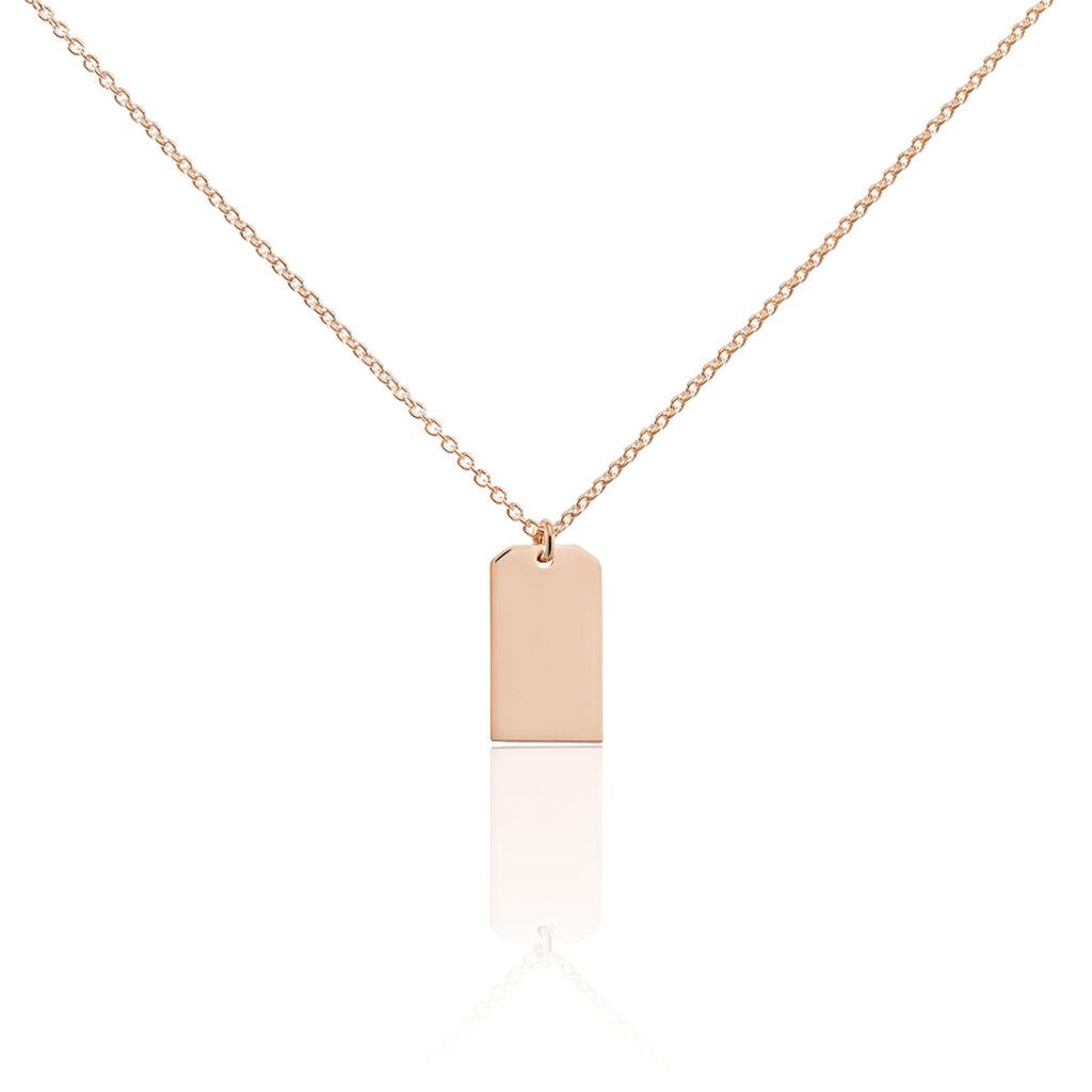 Damen Halskette Silber 925 Rosé Vergoldet Gravur - Ketten mit Anhänger Damen   Oro Vivo