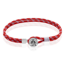 Herrenarmband Seilband Rot Tacho - Armbänder Herren   Oro Vivo