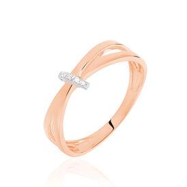 Damenring Roségold 375 Diamanten 0,009ct - Kategorie Damen | Oro Vivo