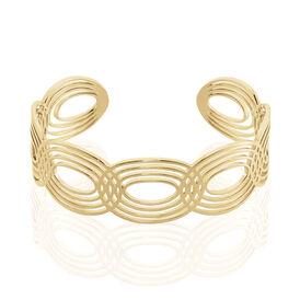 Damen Armreif Messing Gold plattiert  - Armreifen Damen   Oro Vivo