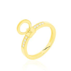 Damenring Gold 375 Zirkonia - Ringe mit Stein    Oro Vivo