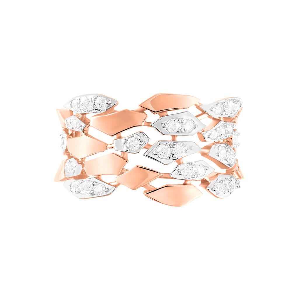 Damenring Roségold 750 Diamanten 0,47ct - Ringe mit Edelsteinen Damen | Oro Vivo