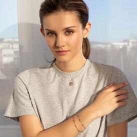 Damenarmband Ankerkette Silber 925 Vergoldet Kugel - Armbänder  | Oro Vivo