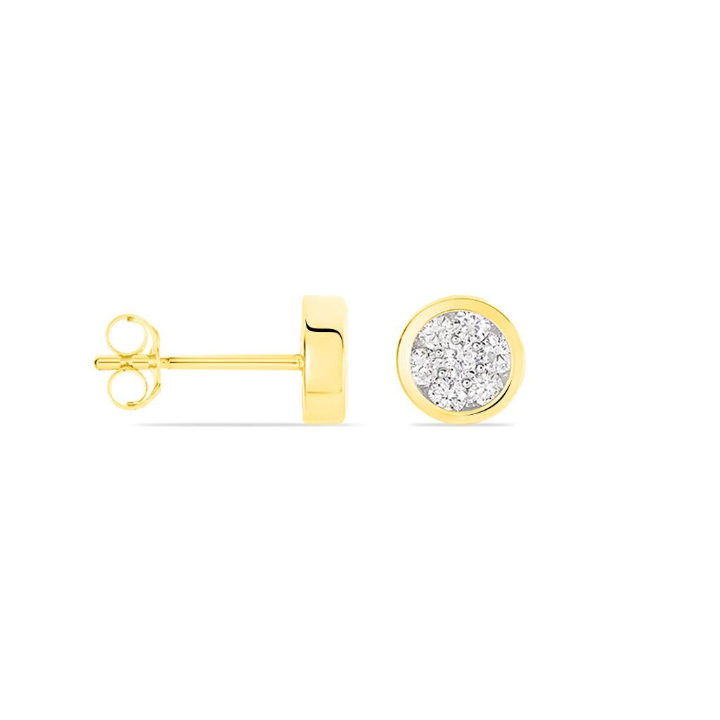 Damen Ohrstecker Gold 750 Diamanten 0,22ct - Ohrstecker Damen | Oro Vivo