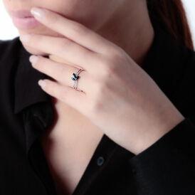 Damenring Weißgold 375 Saphir Diamanten -  Damen | Oro Vivo