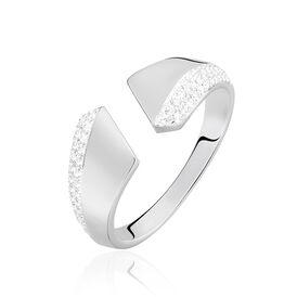 Damenring Weißgold 375 Zirkonia - Ringe mit Stein  | Oro Vivo