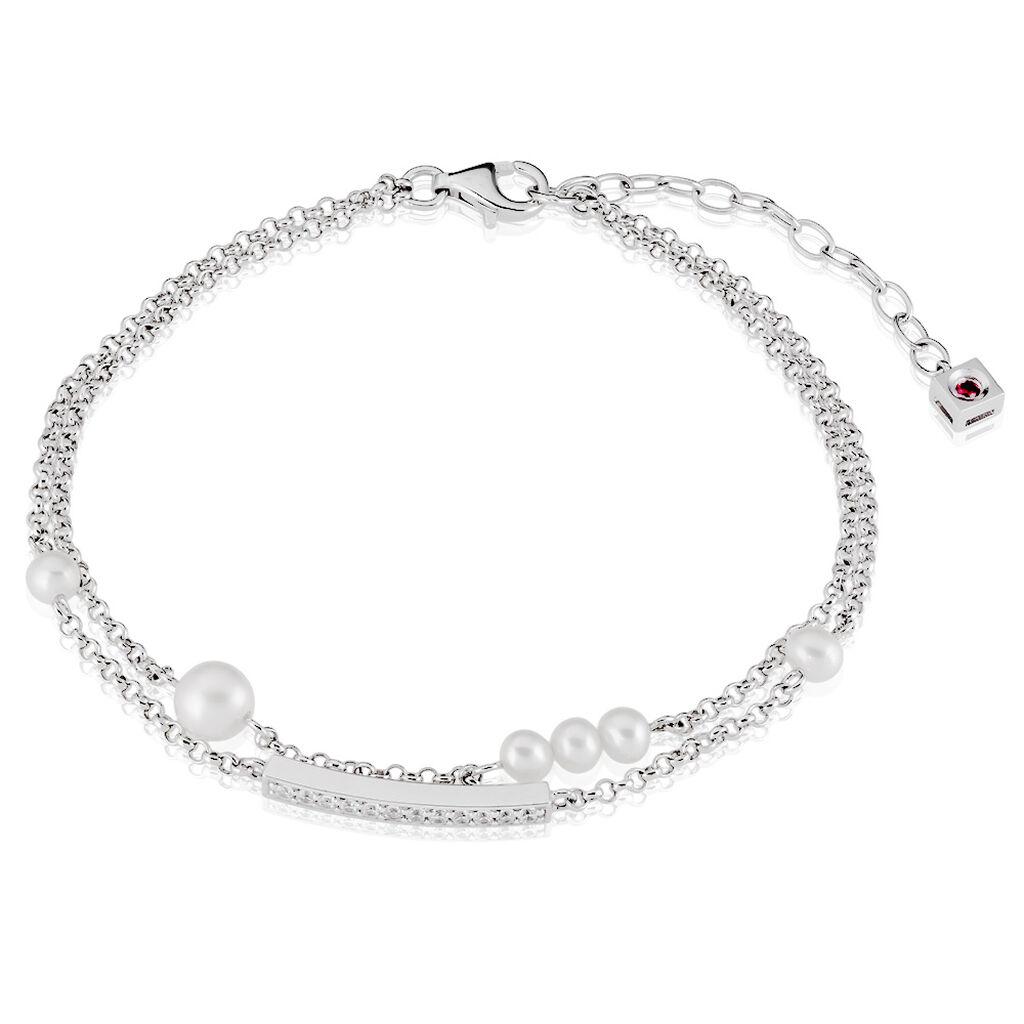 Damenarmband Erbskette Silber 925 Zuchtperle - Armbänder Damen   Oro Vivo