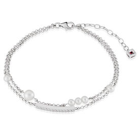 Damenarmband Erbskette Silber 925 Zuchtperle - Armbänder  | Oro Vivo