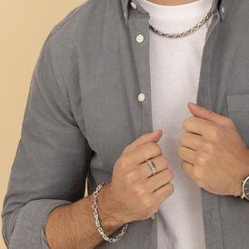 Herrenring Silber 925 Rhodiniert Geschwärzt - Ringe  | Oro Vivo