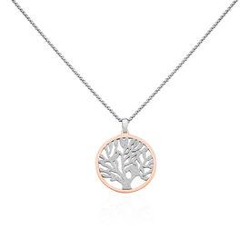 Damen Halskette Edelstahl Vergoldet Lebensbaum - Ketten mit Anhänger Damen | Oro Vivo