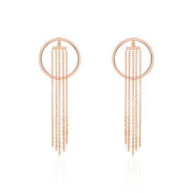 Damen Ohrstecker Lang Edelstahl Rosé Vergoldet  - Ohrringe Damen | Oro Vivo