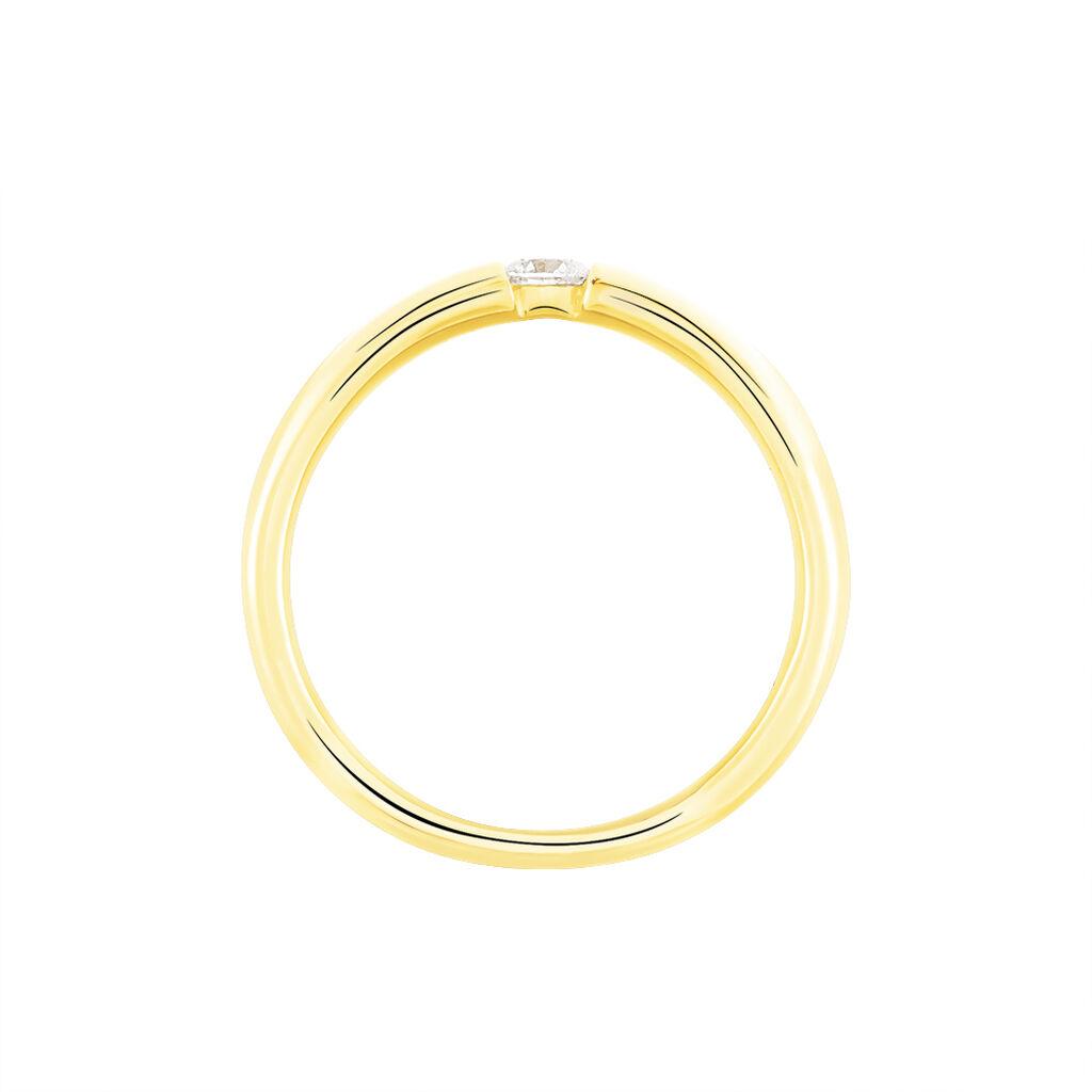 Spannring Gold 375 Diamant 0,1ct - Ringe mit Edelsteinen Damen | Oro Vivo