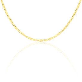 Unisex Stegpanzerkette Gold 333 60cm - Ketten ohne Anhänger Damen | Oro Vivo