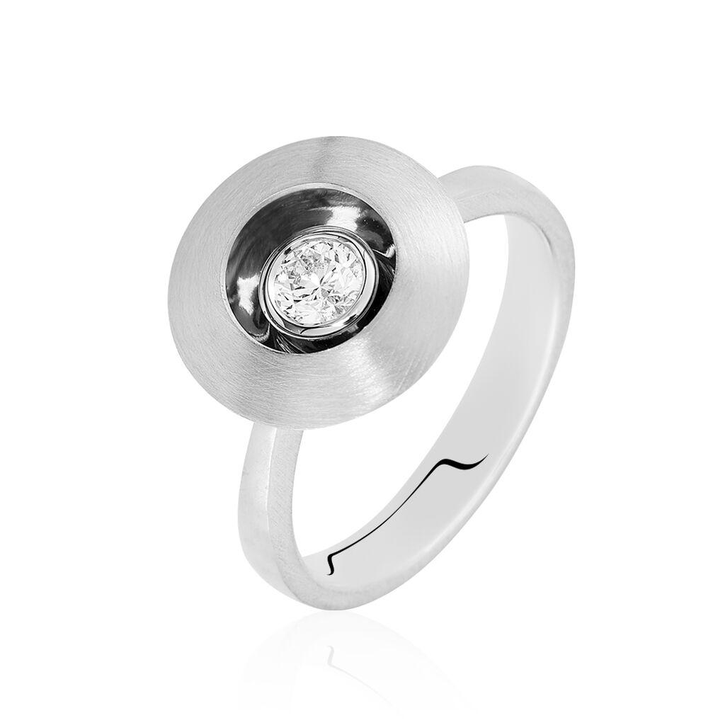 Solitärring Weißgold 375 Diamant Heiko Schrem - Ringe mit Edelsteinen Damen   Oro Vivo