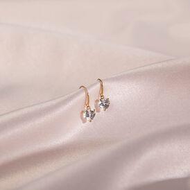 Damen Ohrhänger Gold 375 Zirkonia Herz - Ohrhänger Damen | Oro Vivo