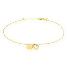 Damenarmband Gold 375 Perlmutt Herz - Personalisierte Geschenke  | Oro Vivo