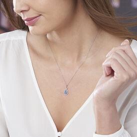 Damen Halskette Weißgold 375 Topas Zirkonia -  Damen | Oro Vivo