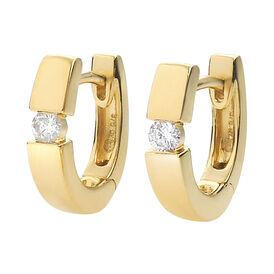 Damen Creolen Gold 585 Diamant 0,1ct 11mm - Creolen Damen | Oro Vivo