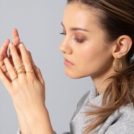 Damenring Silber 925 Vergoldet Zirkonia - Ringe mit Stein  | Oro Vivo