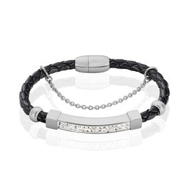 Damen Kunstlederarmband Edelstahl - Black Friday Damen | Oro Vivo