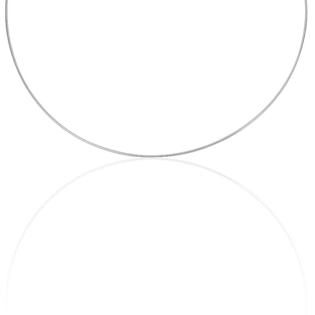 Damen Omegakette Weißgold 585 42cm - Ketten ohne Anhänger Damen   Oro Vivo