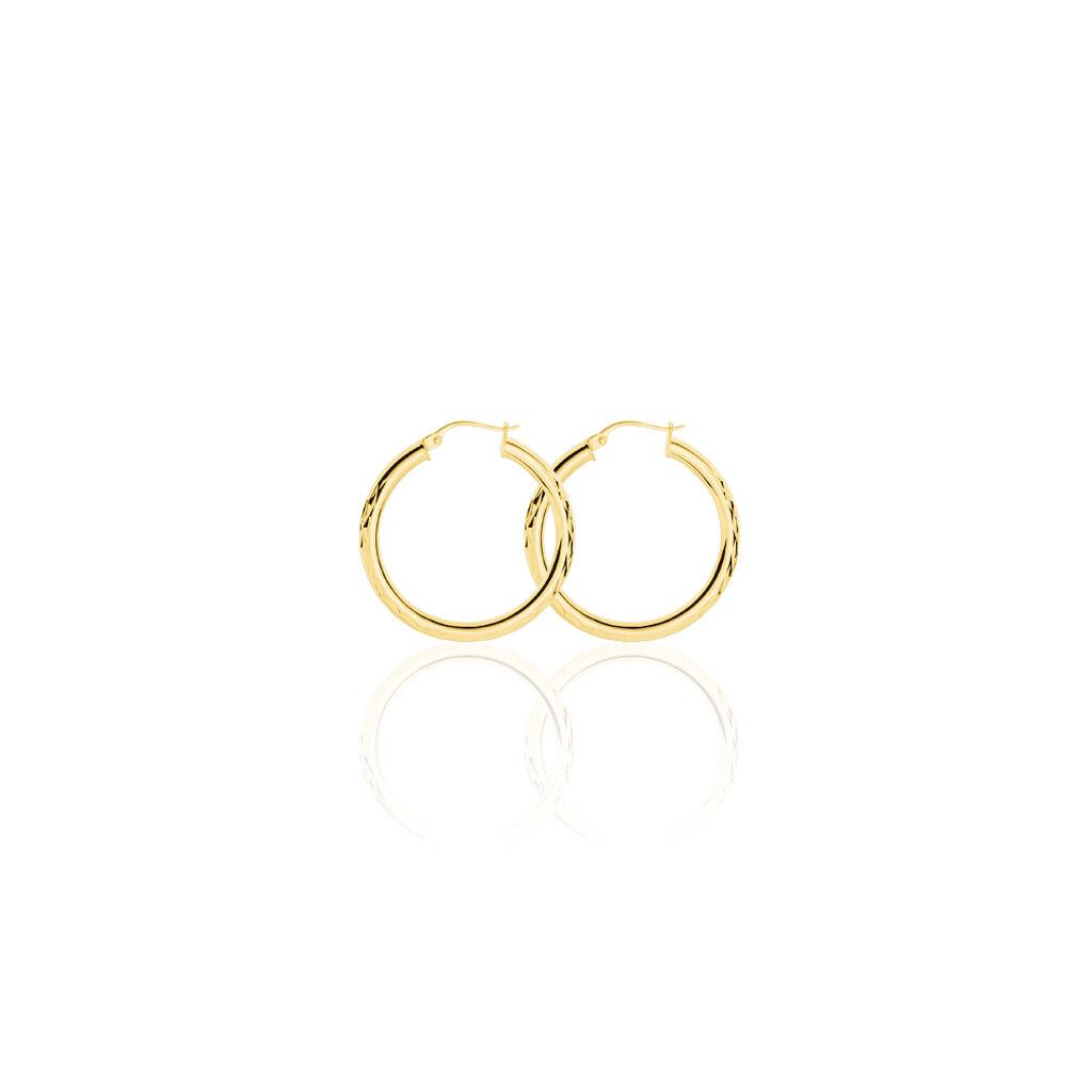 Damen Creolen Silber 925 Vergoldet 30mm - Creolen Damen | Oro Vivo