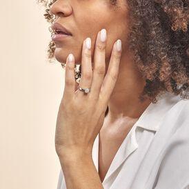Solitärring Weißgold 375 Diamant 0,07ct - Ringe mit Edelsteinen Damen   Oro Vivo