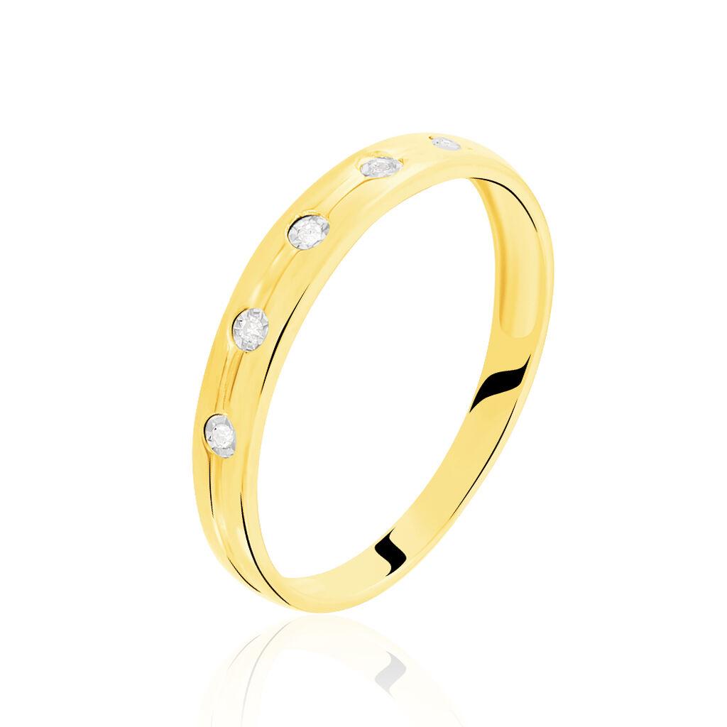 Damenring Gold 585 Diamanten 0,025ct - Ringe mit Edelsteinen Damen | Oro Vivo