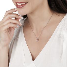 Damen Halskette Silber 925 Rhodiniert Zirkonia - Herzketten Damen | Oro Vivo