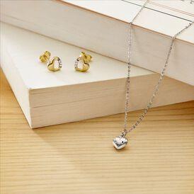 Kinder Halskette Silber 925 Herz - Herzketten Kinder   Oro Vivo