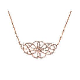 Damen Halskette Rosé Vergoldet Zirkonia - Black Friday Damen   Oro Vivo